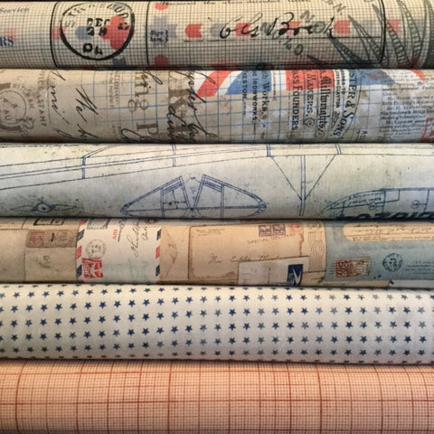 Correspondence by Tim Holtz fat quarter bundle