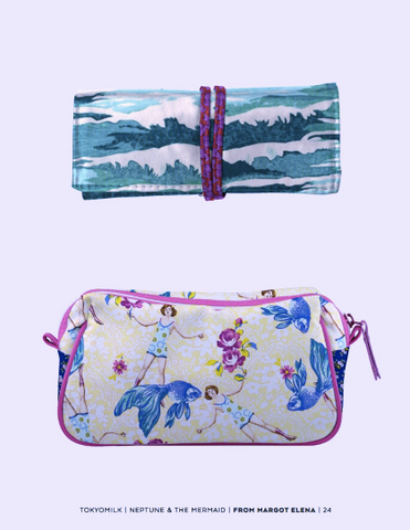 Tokyo Milk Neptune and the Mermaid pouches