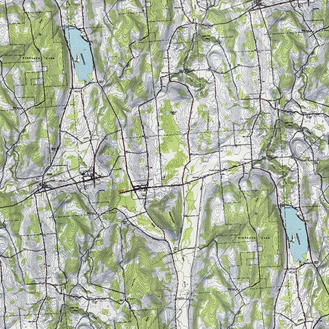 Alpine by Erin Michael Topography Map Green