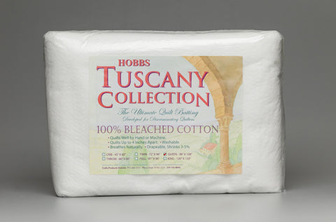 Hobbs Tuscany Collection 100% Cotton Unbleached Cotton Batting - Queen Size