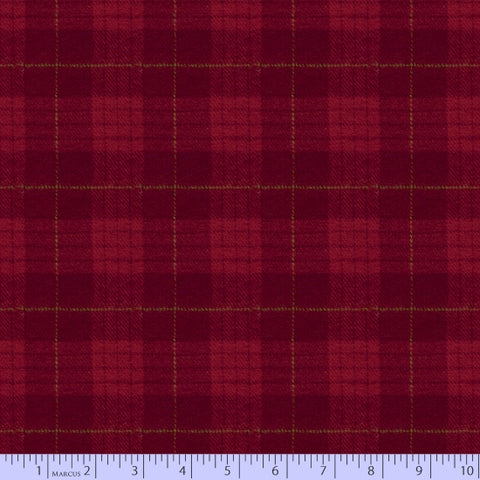 Marcus Fabric Yarn Dyed Primo Plaid Flannel - Maple Lake in Deep Red