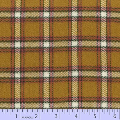 Marcus Fabric Yarn Dyed Primo Plaid Flannel - Lumber Jack in Gold