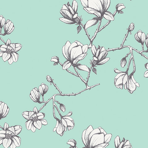 Wild Bloom by Bari J.- Magnolia Study Teal