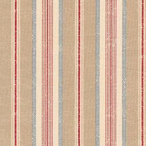 Suzuko Koseki Ticking Stripe in Red and Tan