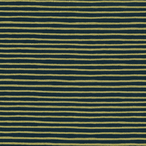 English Garden by Rifle Paper Co. - Stripes in Navy Metallic