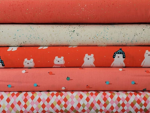 Ruby Star Society - Flurry - Gift Wrap in Red