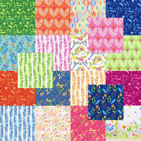 "Designer Bundle - ""Frolic"" quilting cotton 19 x FQ"