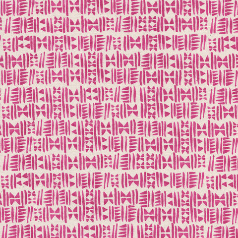 Cotton + Steel Panorama - Stamps in Hot Pink