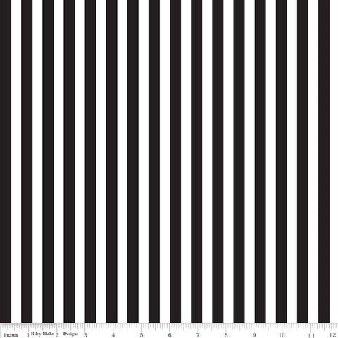Riley Blake Stripes - 3/8 Inch in Black