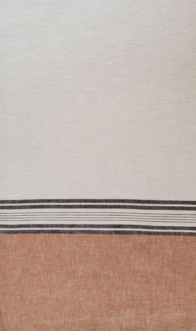 Belize Linen Single Border Weave - Oatmeal