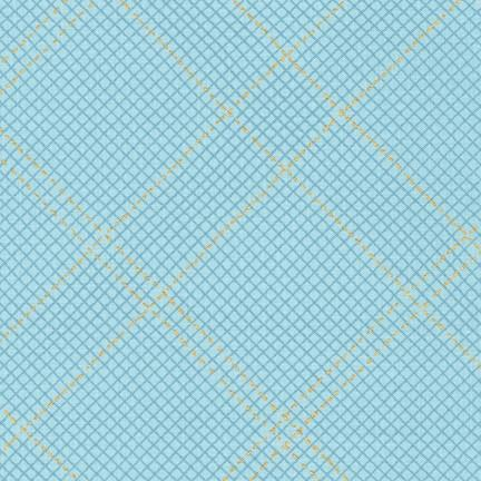 Carolyn Friedlander - Collection CF - Grid in Dusty Blue