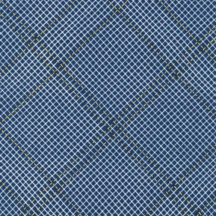 Carolyn Friedlander - Collection CF - Grid with Single Border in Navy