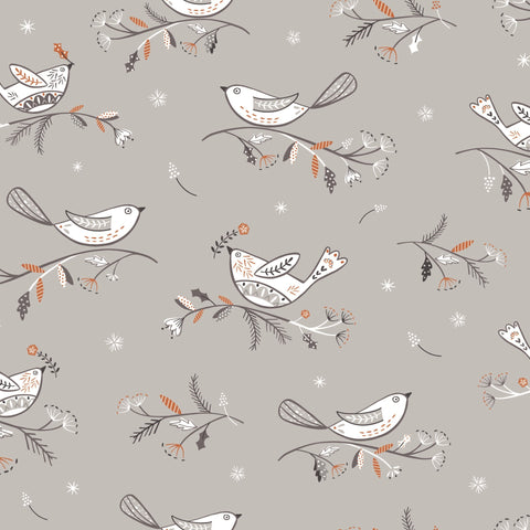 Dashwood Ali Brookes Winterfold - Birds in Light Grey