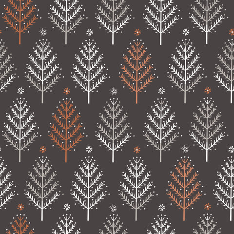 Dashwood Ali Brookes Winterfold - Trees in Charcoal with Copper Metallic
