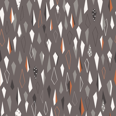 Dashwood Ali Brookes Winterfold - Geometric in Grey with Copper Metallic