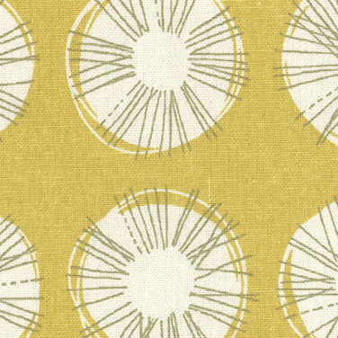 Etoffe Imprevue Circles Yellow