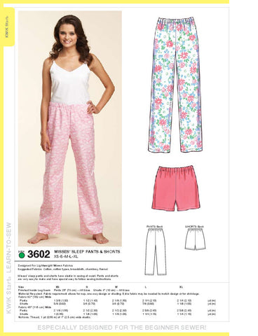 Kwik Sew Sleep pants Misses