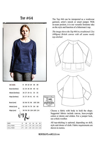 Merchant & Mills Top # 64 Pattern