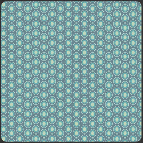 Oval elements - Vintage Blue