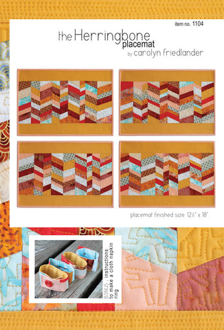 Carolyn Friedlander Herringbone placemats pattern