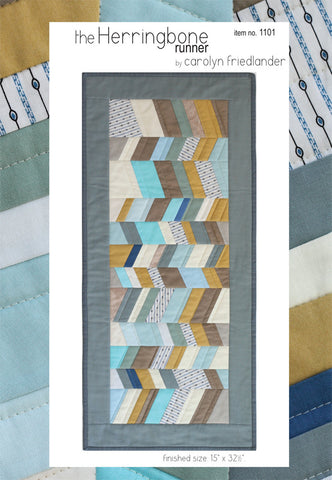 Carolyn Friedlander Herringbone runner pattern