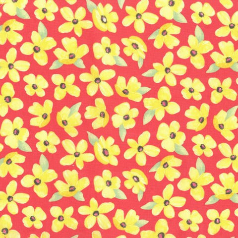 Special Buy - Michael Miller Breezy Blooms in Coral