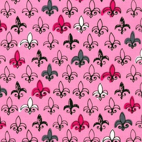 Special Buy - Robert Kaufman Mon Amie - Fleur De Lis in Blush