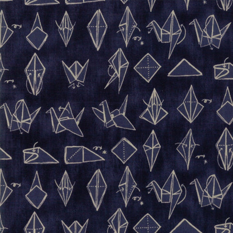 Origami by Janet Clare - Crane in Navy