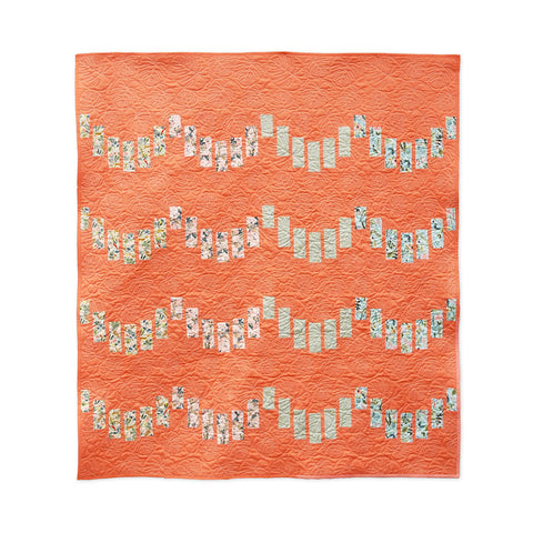 Striped Scallops Quilt Pattern by 3rd Story