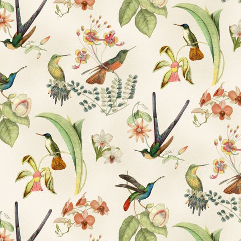 Hummingbirds in Style - Birds - Cream