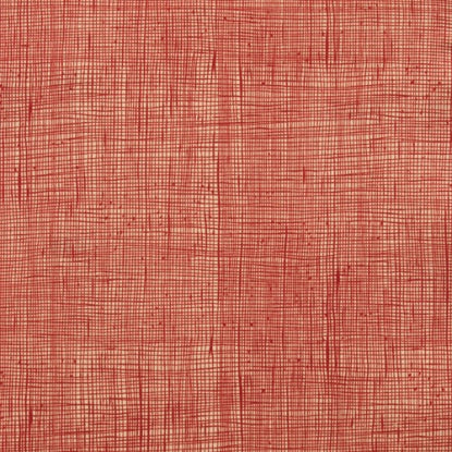 Alexander Henry Heath Fabric Dark Tea/Dark Red
