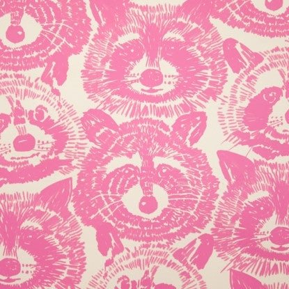 Rocky Raccoon Quilting Cotton Pink