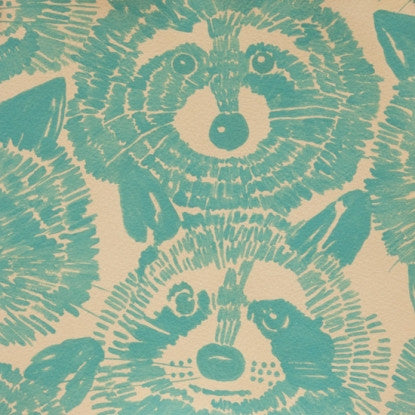 Rocky Raccoon Cotton Knit Teal