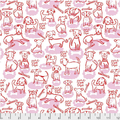 Woof and Wags by Kelli May-Krenz - Bone Clouds in Pink