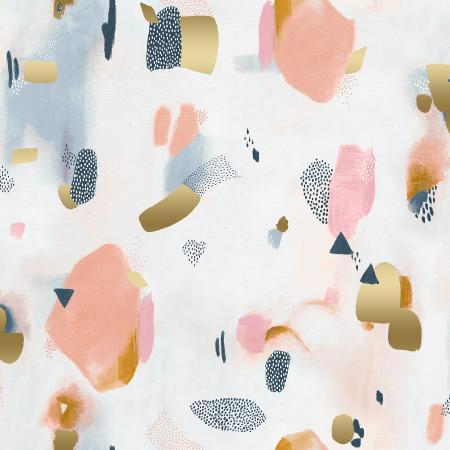 Cotton + Steel - Girl's Club by Piet En Kees - Pastel Parade in Peachy