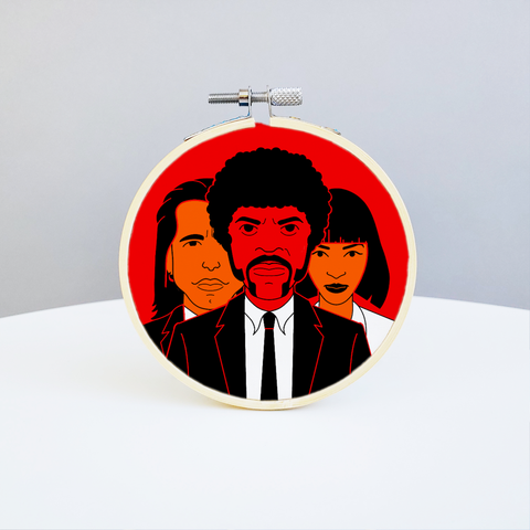"Holly Oddly - 4"" Embroidery Kit - Pulp Fiction"