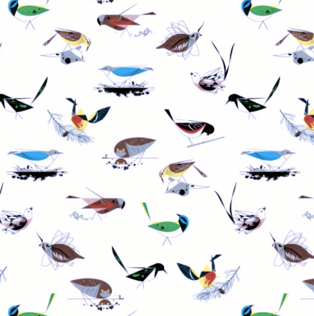 Charley Harper - Western Birds Quilting Cotton