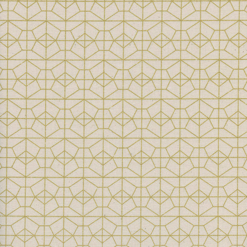 Cotton + Steel Rashida Coleman-Hale - Akoma - Geo Grid in Natural Metallic