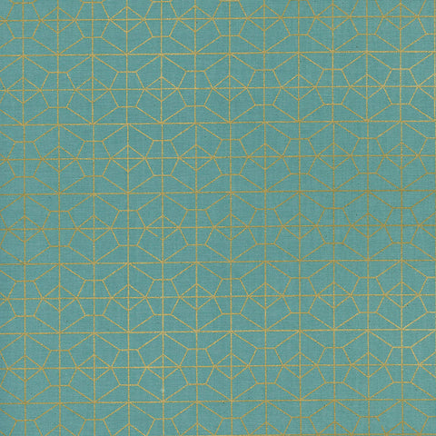 Cotton + Steel Rashida Coleman-Hale - Akoma - Geo Grid in Sky Metallic