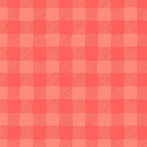 Trail Mix by Rae Ritchie - Gingham Coral