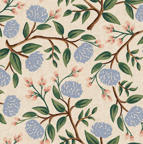 Wildwood by Rifle Paper Co. - Peonies in Cream Canvas