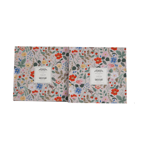 "Strawberry Fields by Rifle Paper Company - Layer Cake 10"" x 10"" squares"