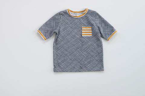 Blake - Stripe jersey knit in silver