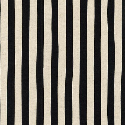 Sevenberry Canvas - Black and Cream Stripe