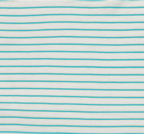 Katia Slub Jersey - Stripes in Aqua