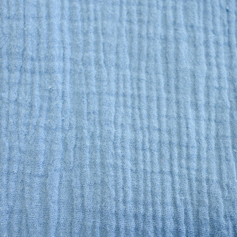 Crinkled Cotton Double Gauze - Sky