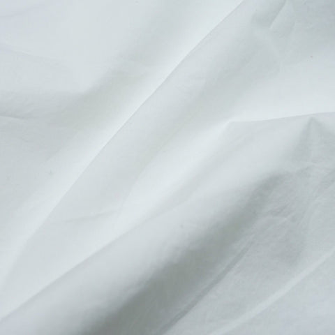 Nova crinkled cotton poplin - White