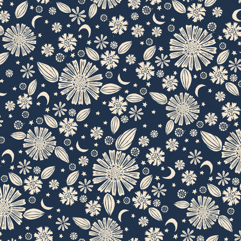 Golden Hour by Alexia Marcelle Abegg of Ruby Star Society -Zinnia in Navy