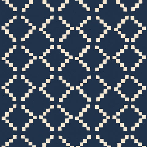 Golden Hour by Alexia Marcelle Abegg of Ruby Star Society - Tile in Navy