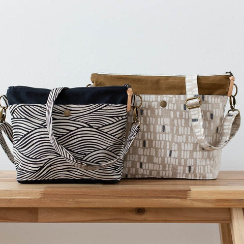 Noodlehead Pattern by Anna Graham - Hillside Tote